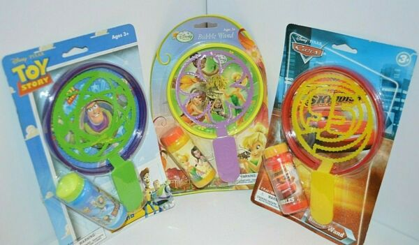 U PICK Bubbles & Bubble Wand Set Tinkerbell Toy Story Pixar Cars Age 3+ Outdoor