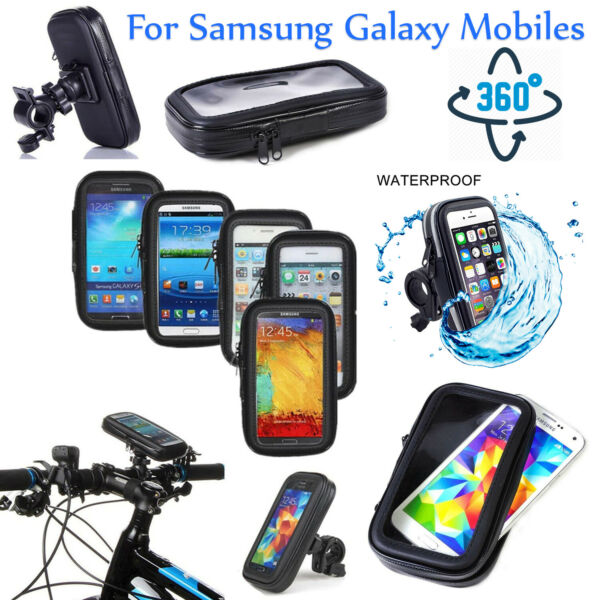 Bicycle Motor Bike Mount Phone Holder Various For Samsung Mobile Waterproof Case GBP 5.99