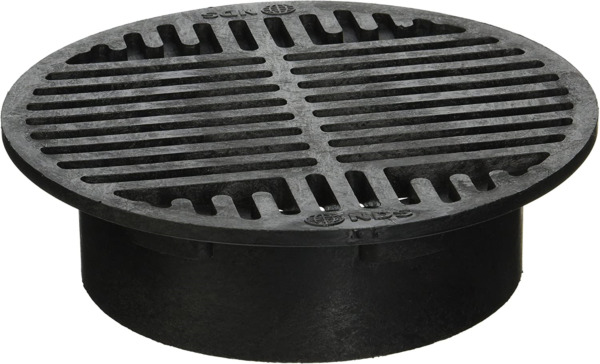 Plastic Round Grate Use to drain excess water Black 8 inch