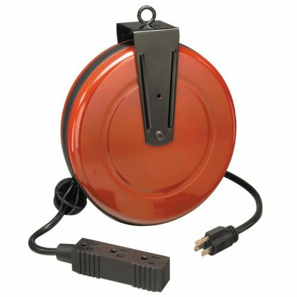 Craftsman Cord Reel Retractable With 30 Ft Extension Cord And 3 Grounded Outlets