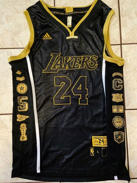 New Kobe Bryant #24 Black Snakeskin Retirement Lakers Jersey S-2XL