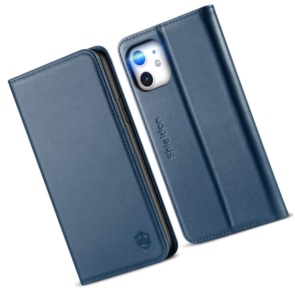 For iPhone 11 Case Genuine Leather iPhone 11 Wallet Case with Folio Stand