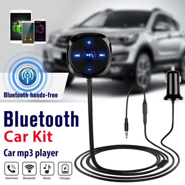 AUX in Bluetooth Wireless Receiver Adapter Dongle for Car Stereo Audio Speaker $13.67