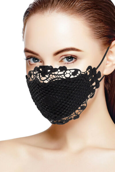 Unique Sexy Lace Face Mask for Protection Reusable - Breathable Washable $12.99