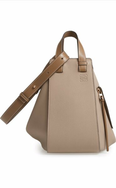 NWT Loewe Hammock Medium Calfskin Leather Hobo (Color: SAND MINK)