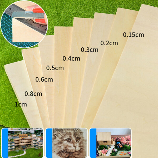 21x30cm DIY Wood Board Handmade Model Layer Basswood Plywood Plank Manual Crafts