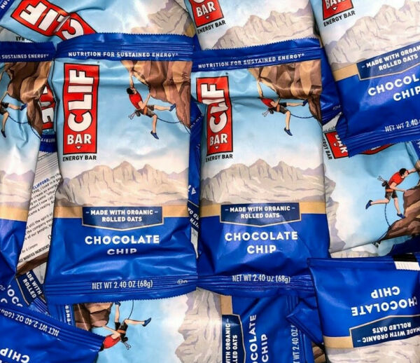 80 Chocolate Chip CLIF ENERGY Organic Rolled Oats Protein Bars