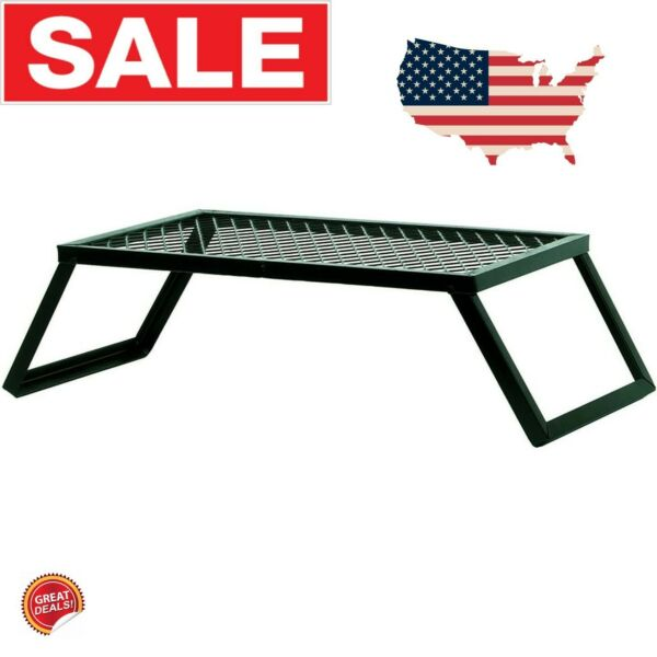 Camp Grill Fire Pit Grate Campfire Cooking Portable Stand Equipment Folding New