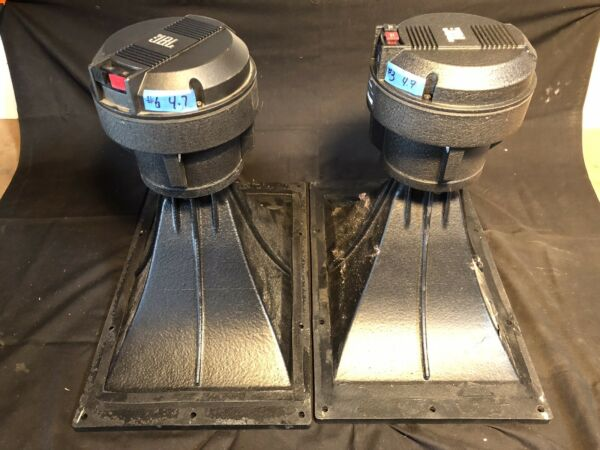 PAIR JBL 2450h Drivers With 2385A Horn Lenses