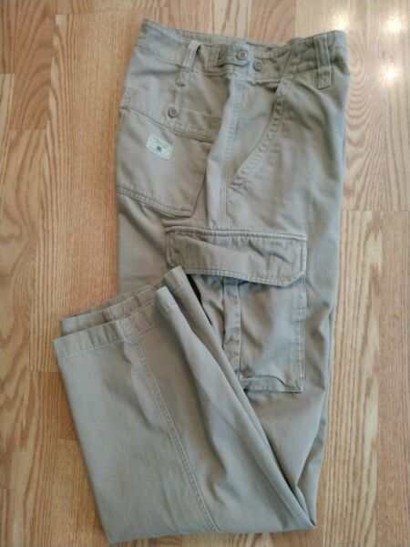 AMERICAN EAGLE OUTFITTERS TAN CARGO PANTS MENS 29 X 30 OR 30 X 30 ZIPPER FLY