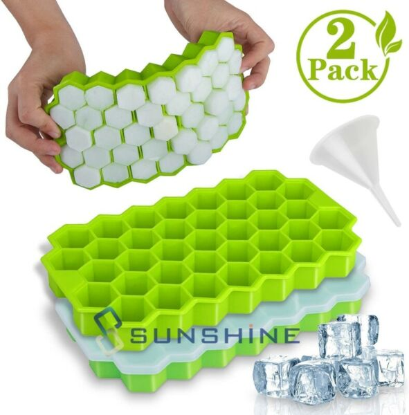 2x Ice Cube Maker Molds 74 Grids Mini Small Trays Silicone Bar Whiskey Cocktails $11.99