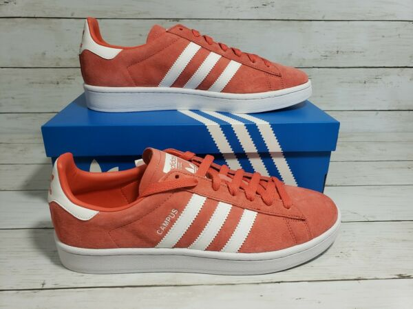 adidas Originals Campus Men's Red Trace Scarlet/White/White DB0984 Size 9.5