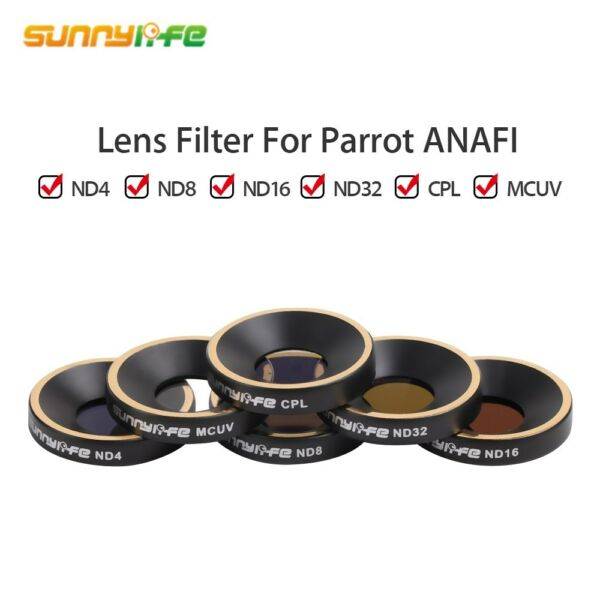 Lens Filter MCUV CPL ND4 ND8 ND16 ND32 Outdoor For Parrot Anafi Drone Quadcopter