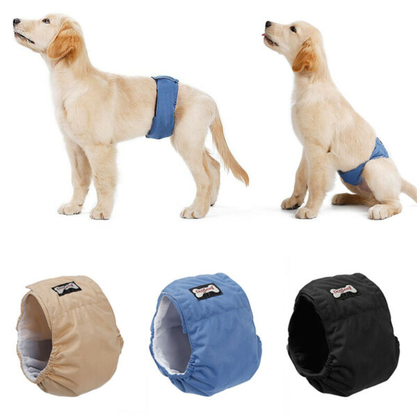 Washable Male Dog Belly Band Wrap Waterproof Pet Diaper Toilet Training Dog $4.99