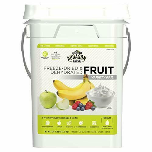 Augason Farms Fruit Variety Pail Long Term Food Storage Prep Camping 4 Gallon