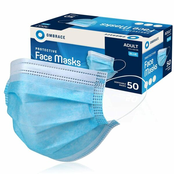 100 Pcs Blue Color Face Mask Mouth amp; Nose Protector Respirator Masks with Filter $14.98