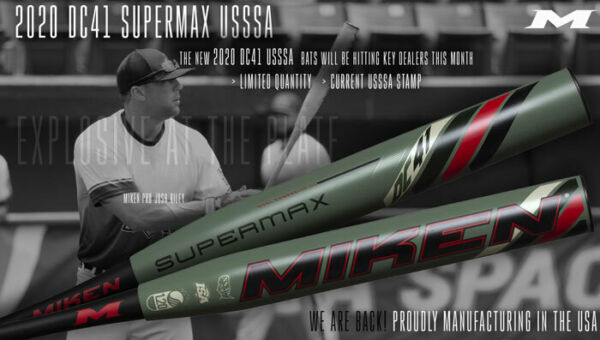 2020 Miken DC41 Slowpitch Bat Supermax USSSA MDC20U-GRN(Clean or Shaved)