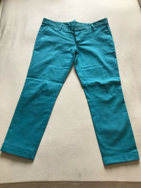 Women's blue Dsquared2 trousers size 42 GBP 60.00