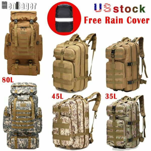 8L35L45L80L Military Trekking Tactical Backpacks Outdoor Camping Hiking Bags