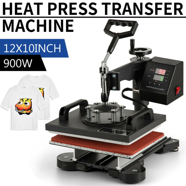 360 Degree T Shirt Heat Press Sublimation Transfer Machine 12quot; x 10quot; Swing Away $75.50
