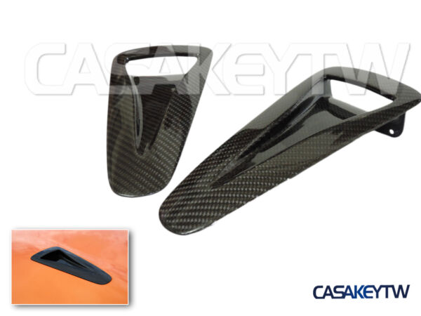 2X New High Quality Carbon Fiber Hood Vents Intake Ducts For 2009 17 Nissan GT R $148.50