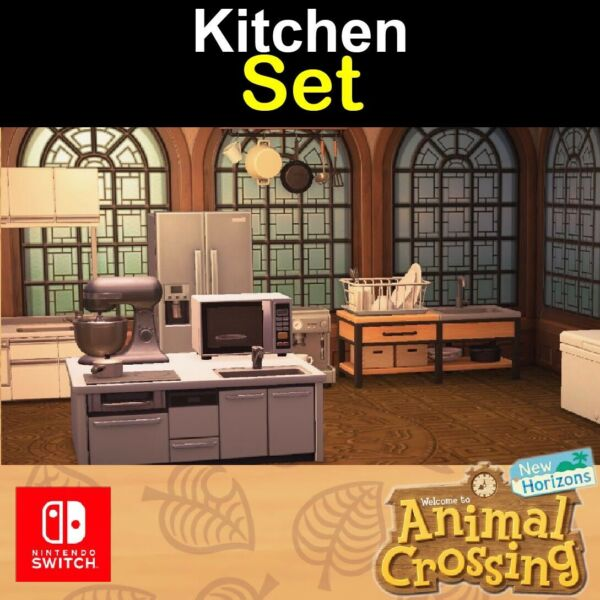 ACNH All Kitchen Pack 🍽🍦LOTS of Furniture For Decoration🔥FAST DELIVERY🔥 $5.98