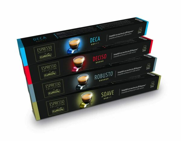 Caffitaly Nespresso Compatible Coffee Capsules Variety Pack 40 Pods