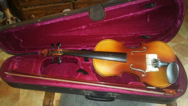 Heimer Size 4 4 Scale Student Violin And Bow With Case #LS
