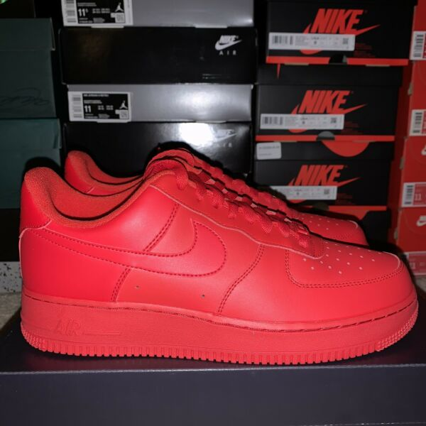 Nike Air Force 1 LV8 Low Triple Red Sneakers CW6999-600 Size 8 Men Shoes