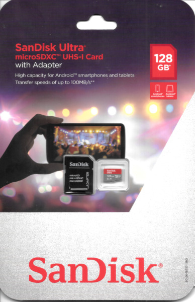 SanDisk Ultra microSDXC UHS-I Card 128GB with Adapter