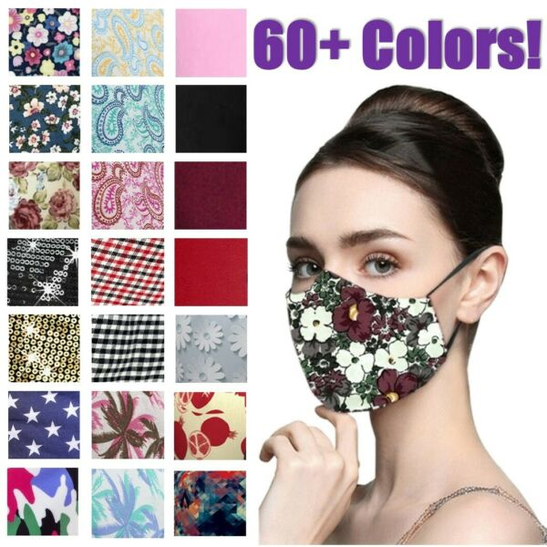 Women's Reusable Washable Fashion Print 3 Protection Layer Face Mask Covering  $5.99