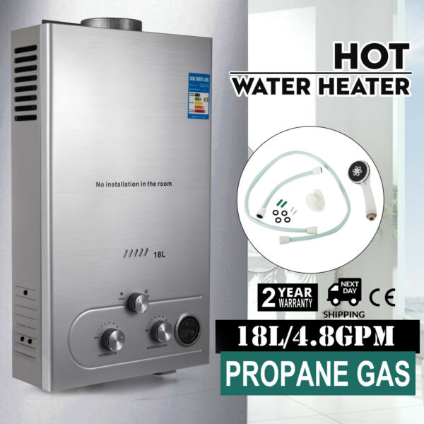 18L Propane Gas Hot Water Heater Instant Boiler On Demand Tankless Water Heater $91.70