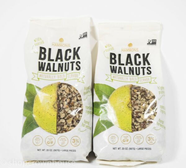 2 Hammons Black Walnuts Fancy Large Pieces 20oz Bags Non Gmo Nuts 02 09 2021 $39.49