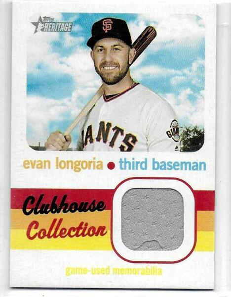 2020 Topps Heritage Evan Longoria Clubhouse Collection Relic #CCREL S F Giants