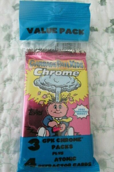 10 Garbage Pail Kids Chrome Series 1 Atomic Value Packs (3 Packs w Atomic Refs)