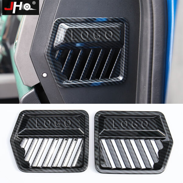 ABS Carbon Grain Dashboard Side Vent Overlay Cover for 17 2020 FORD F150 RAPTOR $26.60