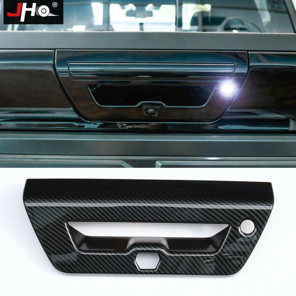 ABS Carbon Grain Tailgate Handle Overlay Cover for 2015 2017 FORD F150 RAPTOR $42.30