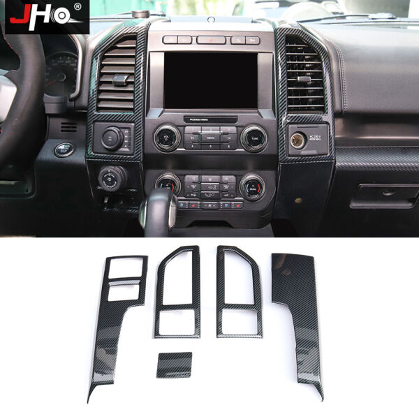 Plastic Carbon Grain Center Console Side Vent Overlay for 2017 2020 FORD RAPTOR $122.55