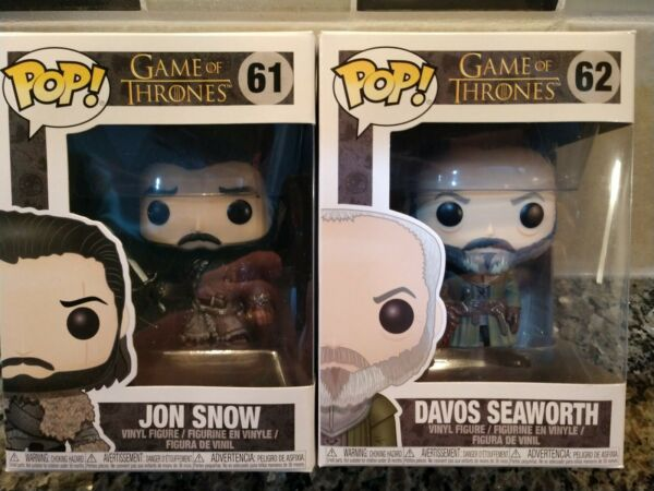 2 Game of Thrones POP Funko 61 John Snow amp; 62 Davos Seaworth