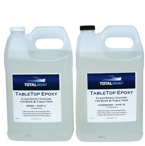 TotalBoat Table Top Epoxy Resin 2 Gallon Kit  Crystal Clear Coating FREE SHIP
