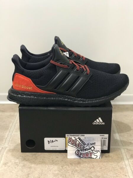 New Adidas Ultra Boost DNA Running Shoes Black Red FW4899 Yeezy Mens Size