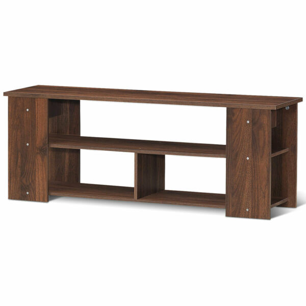 Brown 2-Tier TV Stand Entertainment Media Center Console Shelf for TV's 50