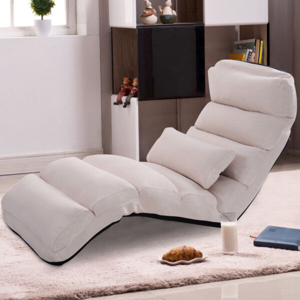 Folding Lazy Sofa Chair Home Office Seat Sofa Couch Beds Lounge Chair WPillow $149.79