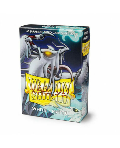 Japanese Matte White 60 ct Dragon Shield Sleeves YuGiOh Size 10% OFF 2 $7.65