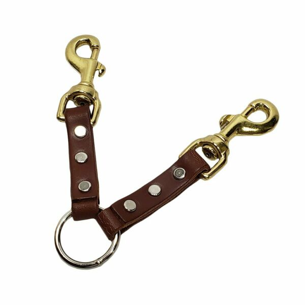 2 Dog Leather Coupler $11.99