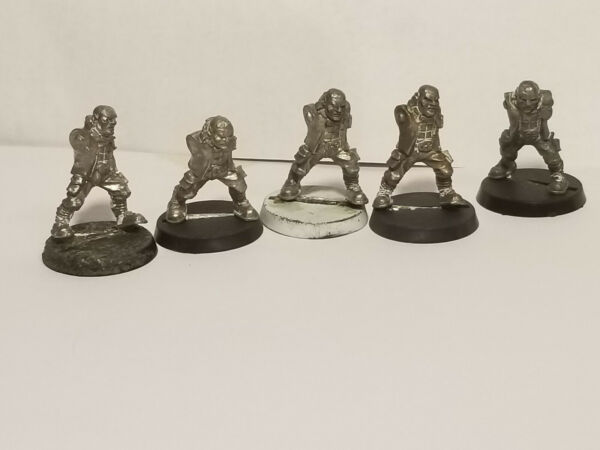 Rogue Trader Warhammer 40K 5x Imperial Guard Penal Penitent X5 Metal Bodies #1