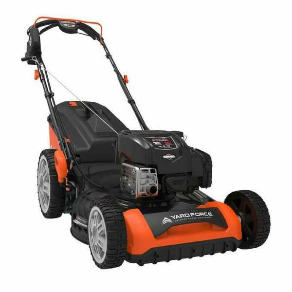 Yard Force 21quot; Gas Mower with 20V Leaf Blower Lawncare Mowing Easy Garden Cuttin