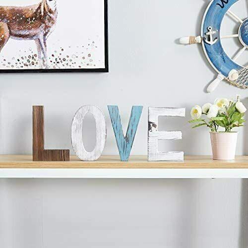 Love Sign Wood Cutout Letters Family Helf Rustic Signs for Home Decor 4 Letter