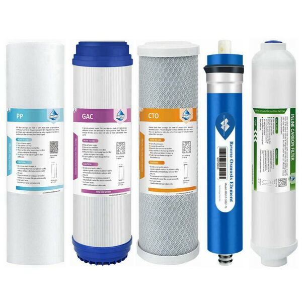 5 Stage 75GPD RO Membrane Reverse Osmosis System Cartridge Water Filter 5 Pack $31.34