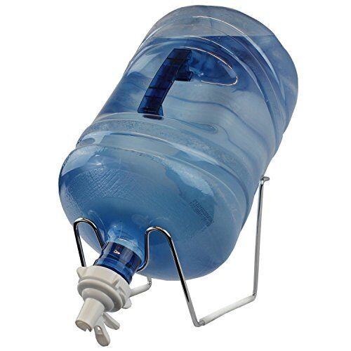 Chrome 1 5 Gallon Water Jug Stand amp; Water Dispenser Valve Fit 48mm Screw Top $25.99